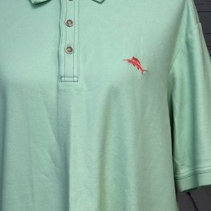 Tommy Bahama Large Supima Cotton Polo Shirt Green